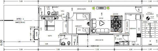 Apartamento Vila Valparaíso 3 dormitorios 2 banheiros 2 vagas na garagem