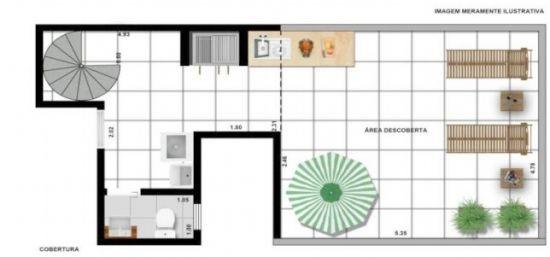 Cobertura Duplex venda Santa Maria - Referência CO1739
