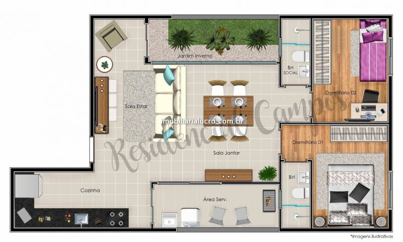 Cobertura Duplex venda Jardim Bela Vista - Referência CO1971