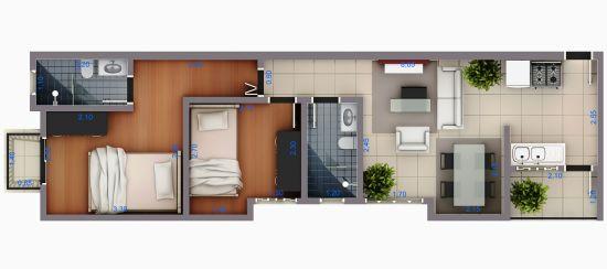 Apartamento Vila Alpina 2 dormitorios 1 banheiros 1 vagas na garagem